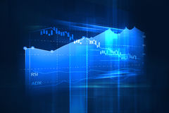 Financial graph on technology abstract background Stock Photos