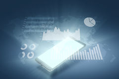 Financial graph on technology abstract background. Stock Photo