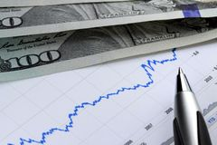 Financial graph used for accounting, analyzing or stock market trading Stock Images