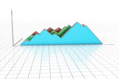 Financial graph. In white color background Royalty Free Stock Images