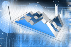 Financial graph. In white color background Royalty Free Stock Image