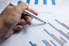 Financial graphics diagram for work business and economic Royalty Free Stock Images