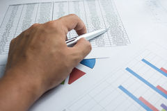 Financial graphics diagram for work business and economic Stock Image