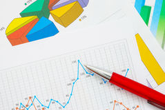 Financial graphs Royalty Free Stock Photos