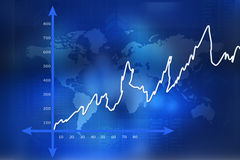 Financial graphs. In abstract background Royalty Free Stock Image