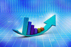 Financial graphs Royalty Free Stock Image