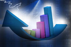 Financial graphs. In abstract background Royalty Free Stock Images
