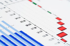 Financial graphs Royalty Free Stock Images