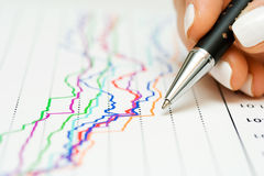 Financial graphs Stock Photo