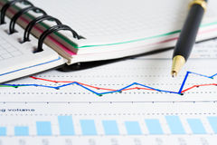 Financial accounting stock market graphs charts Stock Photography