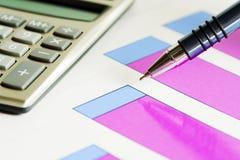Financial graphs analysis Royalty Free Stock Photos