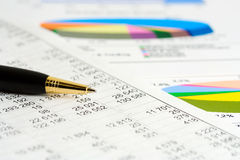 Financial graphs analysis and accounting Stock Image