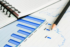 Financial graphs analysis and accounting Stock Images