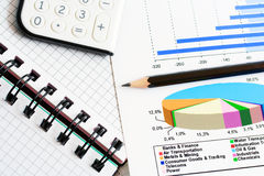 Financial graphs analysis and accounting Royalty Free Stock Images