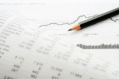 Financial accounting stock market graphs analysis royalty free stock photo