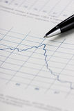 Financial graphs analysis Stock Photos