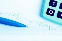 Financial graphs analysis Royalty Free Stock Image