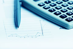 Financial graphs analysis Royalty Free Stock Photography