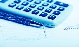 Financial graphs analysis Royalty Free Stock Photo