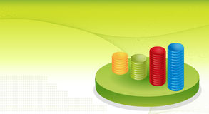 Financial Graphs Background. In 3d dimension Royalty Free Stock Photo