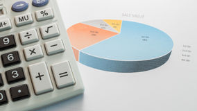 Financial graphs Stock Images