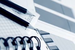 Financial graphs and charts Royalty Free Stock Images