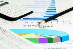 Financial graphs and charts Stock Image