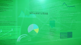 Financial graphs and charts accounting. With a green background Royalty Free Stock Photography