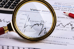 Financial graphs and charts Stock Image