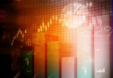 Financial graphs and charts. Shows business growth, background image Stock Image