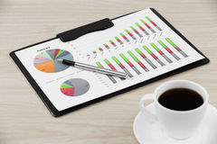 Financial graphs and charts Royalty Free Stock Image