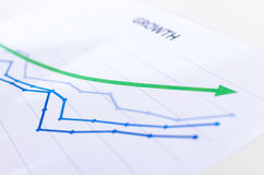 Financial graphs showing growth Stock Photos