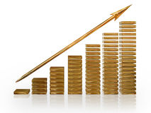 Financial Growth. Illustration depicting financial growth on a white background Royalty Free Stock Image
