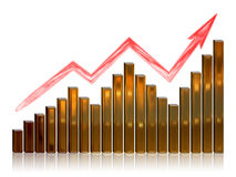 Financial Growth. Illustration depicting financial growth on a white background Royalty Free Stock Photography