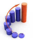 Financial growth. 3d rendered illustration Royalty Free Stock Photo