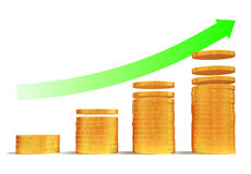 Financial growth. Up or money saving 3d concept Stock Photo