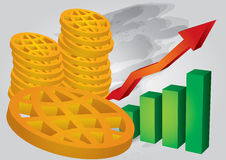 Financial growth Royalty Free Stock Images