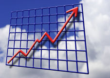 Financial Growth. Illustration depicting financial and business growth Stock Image