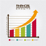 Financial growth. Over dotted background vector illustration Royalty Free Stock Image