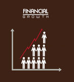 Financial growth. Over brown background vector illustration Stock Images