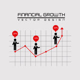 Financial growth. Over beige background vector illustration Stock Images