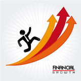 Financial growth. Over lineal background vector illustration Stock Image