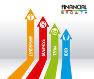 Financial growth. Over gray background vector illustration Royalty Free Stock Image
