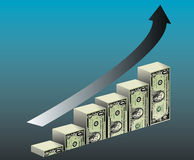Financial Growth. A graph depicting financial growth. Also available in vector format Stock Image
