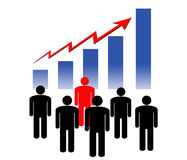 Financial growth. People looking at the financial situation Royalty Free Stock Photography