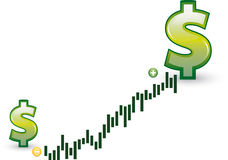 Financial growth Stock Images