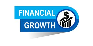 Financial growth banner. Icon on isolated white background - vector illustration Royalty Free Stock Images