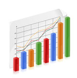 Financial Growth Chart. Bar graph represents a person growing wealth and success Royalty Free Stock Image