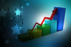 Financial growth. In color background Stock Photo