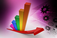 Financial growth. In color background Royalty Free Stock Photography